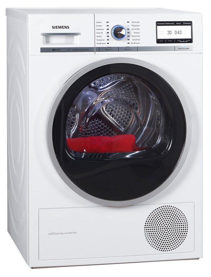 - SIEMENS wasdroger iQ800 WT47Y701, A++, 8 kg