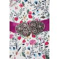 love nature folklorejurk met lenteachtige bloemenprint - made in austria (2-delig, met textielen riem) wit