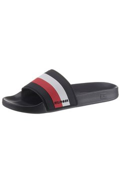 tommy hilfiger slippers »corporate pool slide« blauw
