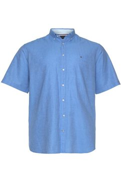 tommy hilfiger overhemd met korte mouwen bt-co-li twill shirt s-s-b blauw