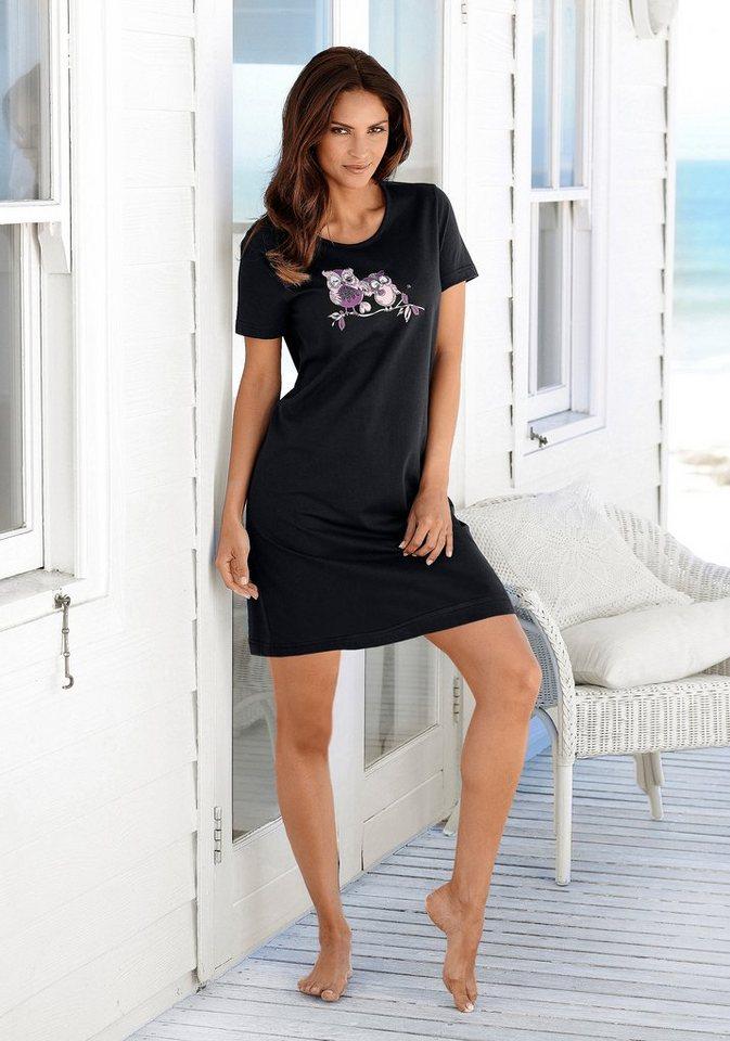 VIVANCE DREAMS Big-shirt met uilenprint