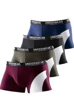 authentic underwear le jogger boxershort (set van 4), met contrastkleurige inzet multicolor