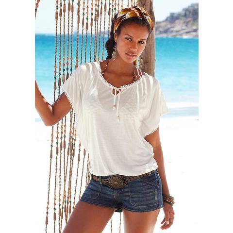 LASCANA Strandshirt met gehaakte randen