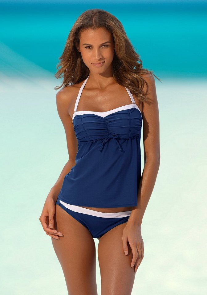 NU 20% KORTING: LASCANA Bandeau-beugeltankini in retro-look