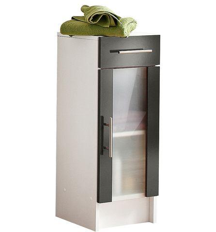 SCHILDMEYER Onderkast Catania met 1 deur grijze badkamer onderkast 137