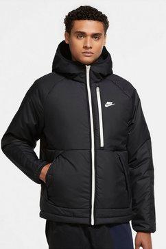 nike sportswear gewatteerde jas therma-fit legacy series mens hooded jacket zwart