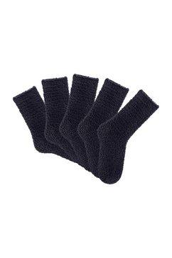 zwarte wellnesssokken in set van 5 paar, lavana zwart