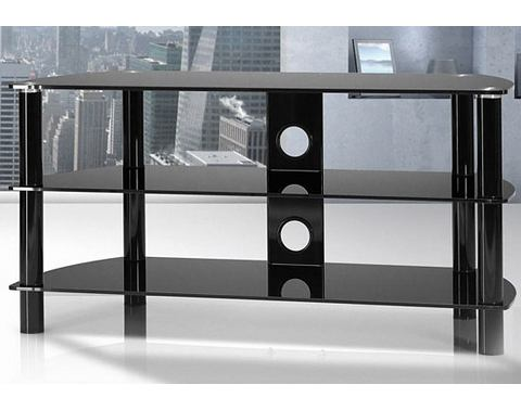JUST-RACKS TV-meubel met glasplateaus