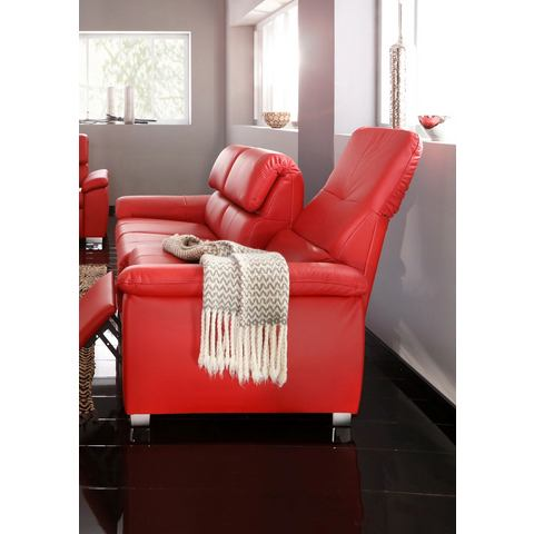 woonkamer driepersoons bankstel rood PRIMABELLE microgaren breedte 205 cm