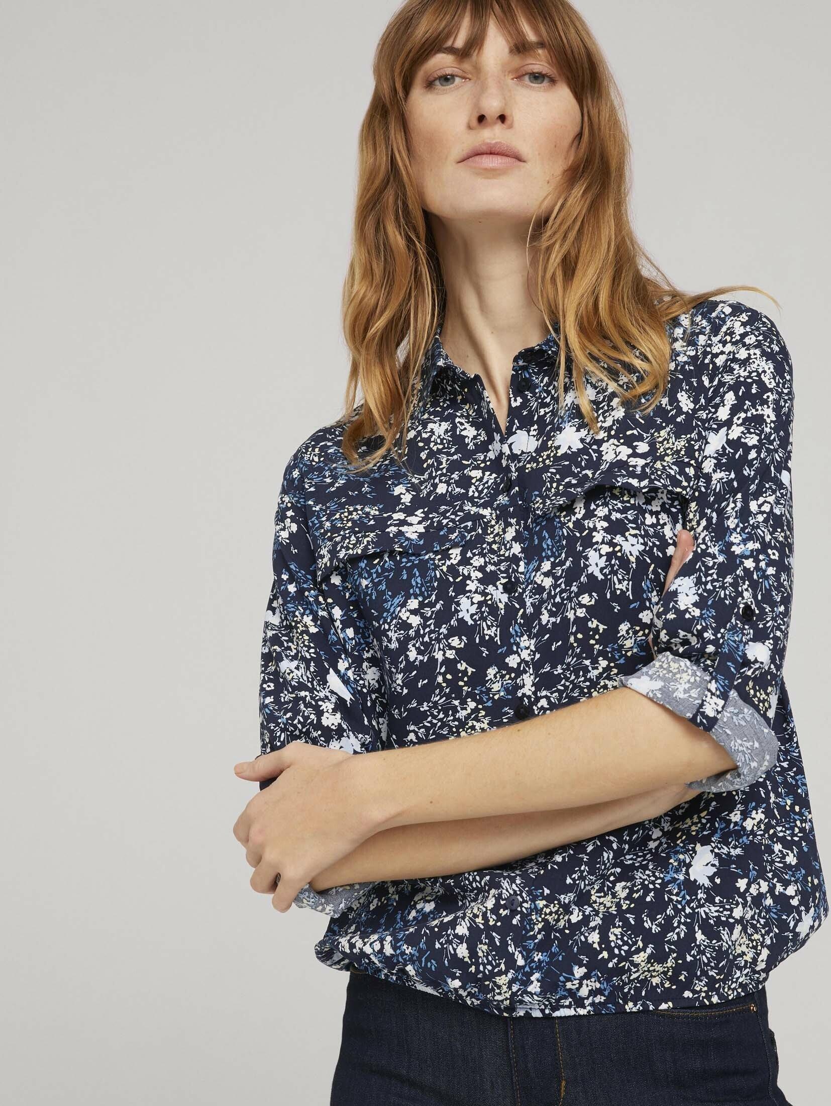Op zoek naar een Tom Tailor shirtblouse »Hemdbluse mit Turn-Up Ärmel«? Koop online bij OTTO