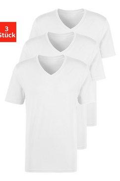bench. shirt met v-hals (set van 3) wit