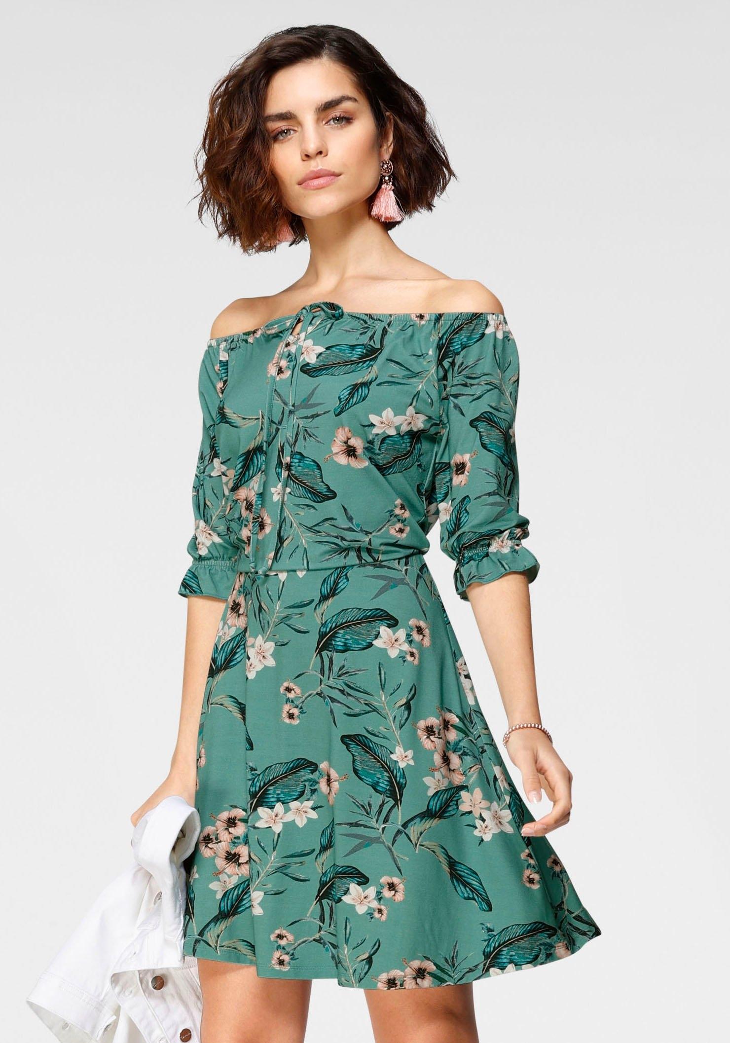 Op zoek naar een Tamaris off-shoulderjurk met bloemenprint? Koop online bij OTTO