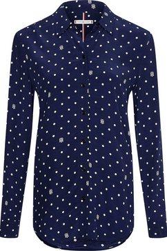tommy hilfiger overhemdblouse »viscose cdc regular blouse ls« blauw