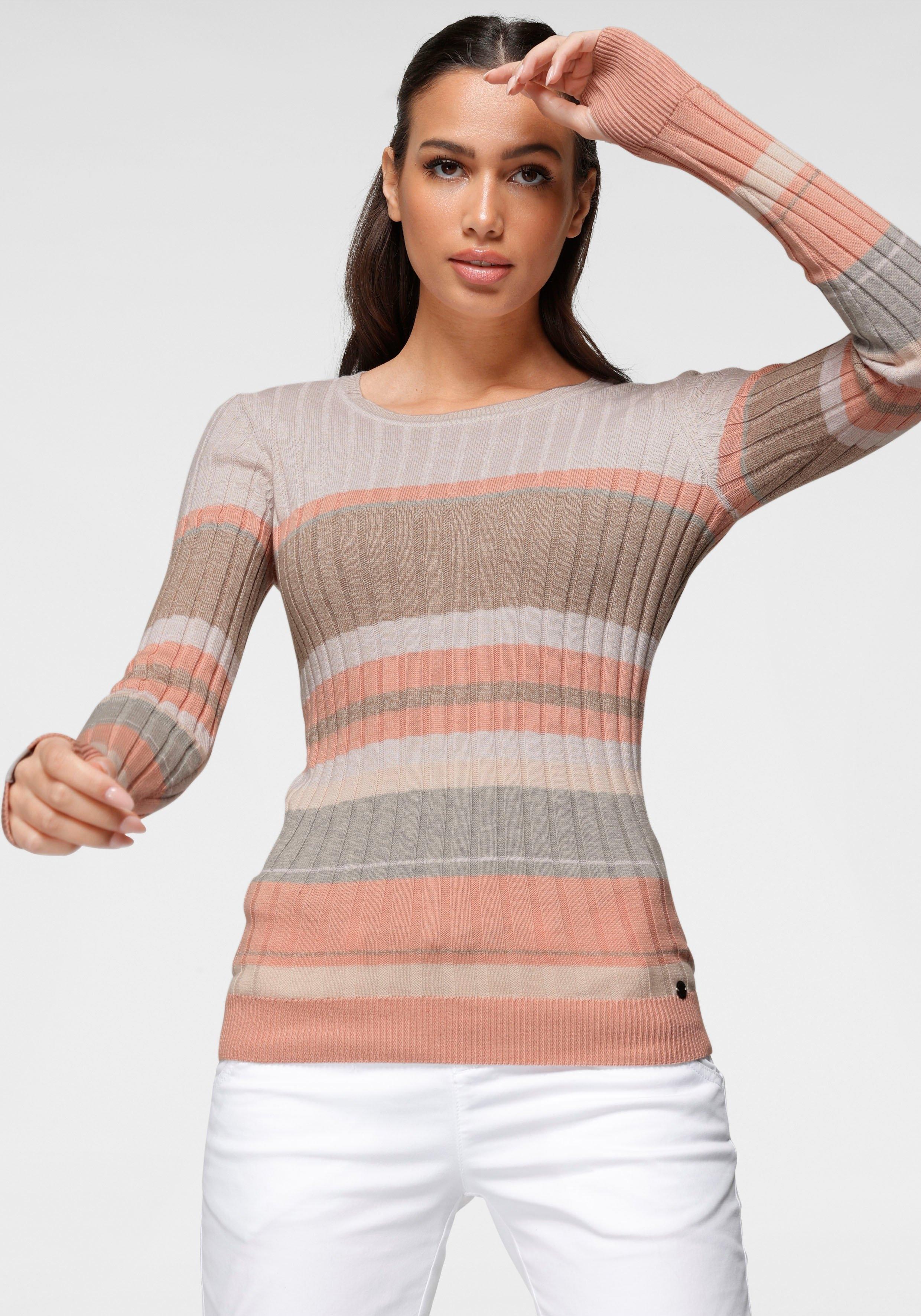 KangaROOS trui met ronde hals in sportief streep-design nu online kopen bij OTTO