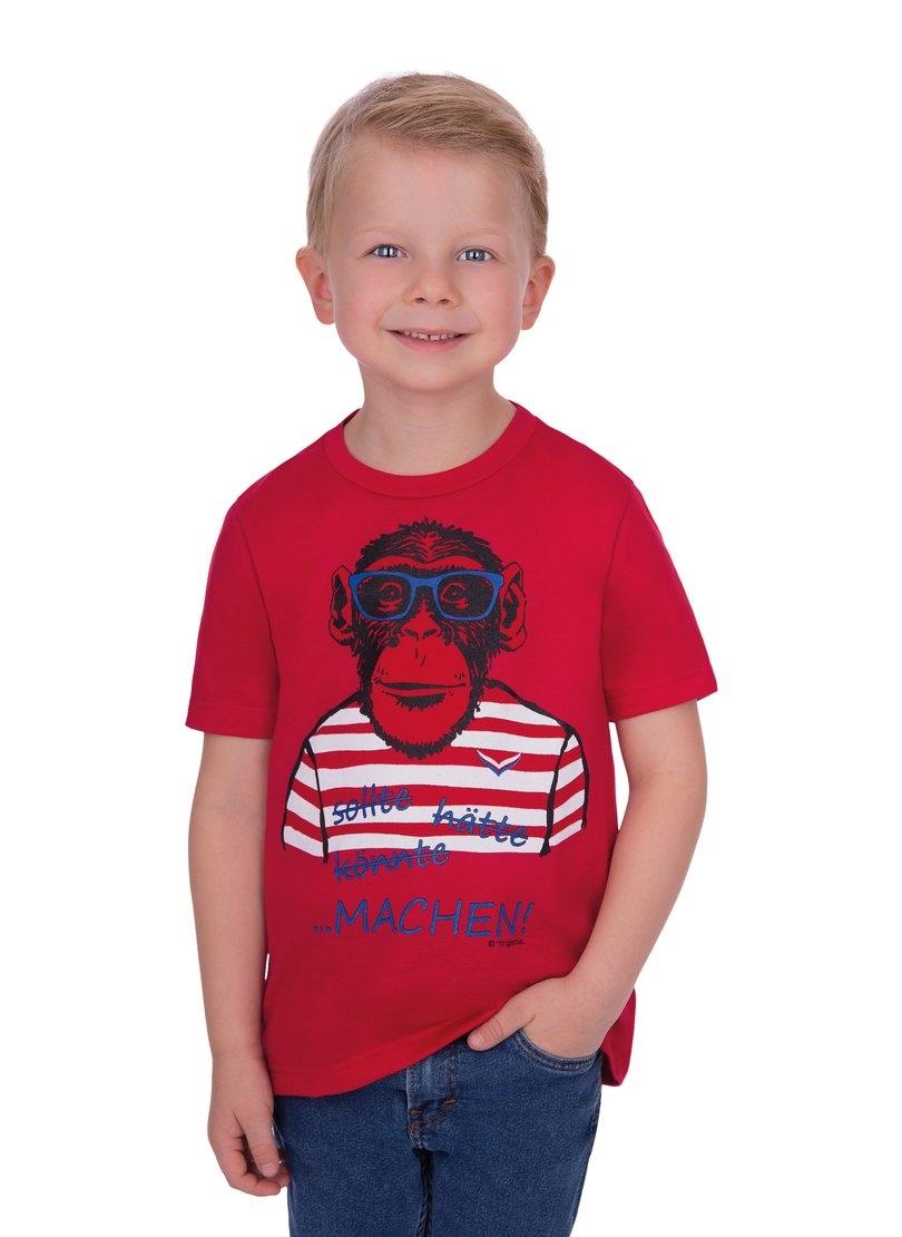 Trigema T-shirt met groot apen-printmotief - gratis ruilen op otto.nl