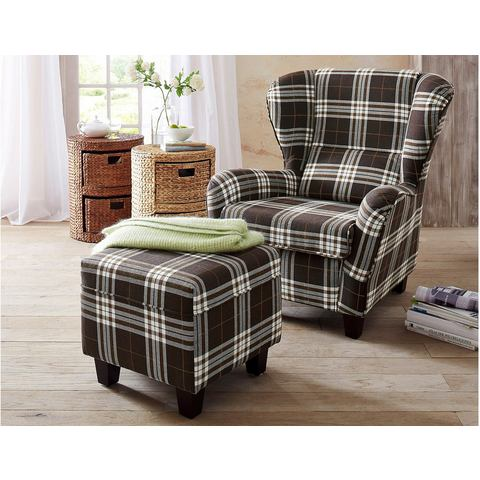 HOME AFFAIRE Fauteuil en hocker Oliver