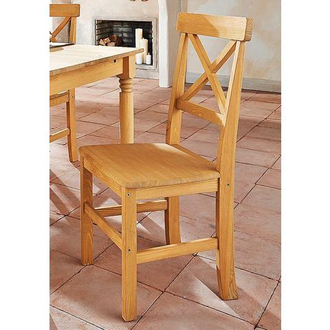 Eetkamerstoelen HOME AFFAIRE Grenen stoel in set van 2 722048