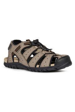 geox sandalen met praktische klittenbandsluiting bij de hiel bruin