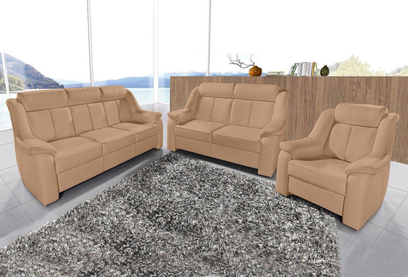 3-zitsbank + 2-zitsbank + fauteuil in set