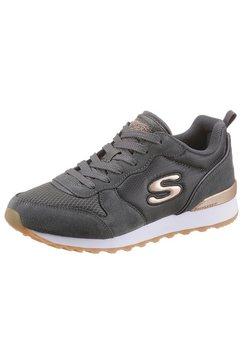 skechers sneakers goldn gurl met memory foam grijs