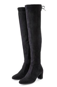 lascana overknee-laarzen stretchlaarzen zwart