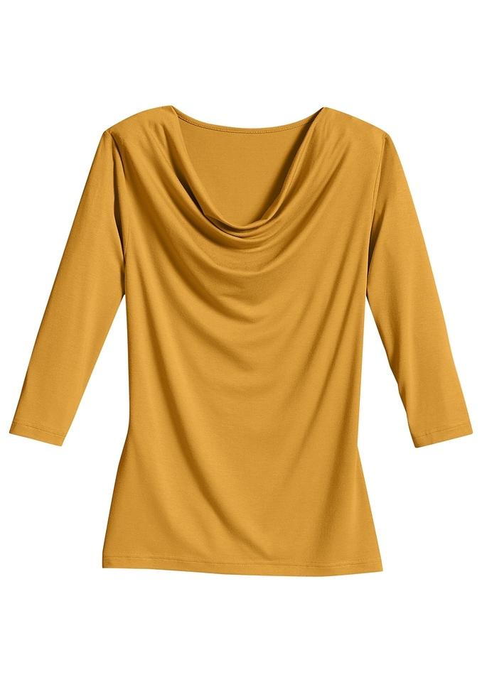 Classic Inspirationen shirt met kleine cascadehals nu online kopen bij OTTO