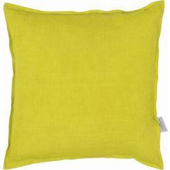 kussenovertrek, tom tailor, »stone-washed« (per stuk) geel