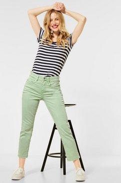 street one 7-8 jeans 5-pocketsstijl groen