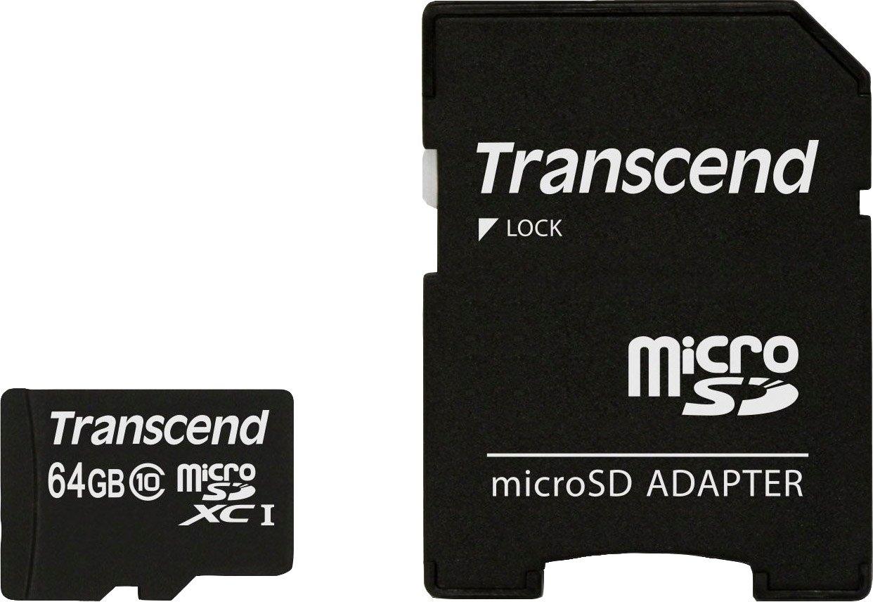 Transcend »microSDXC/SDHC Class 10 + SD-Adapter« geheugenkaart in de webshop van OTTO kopen