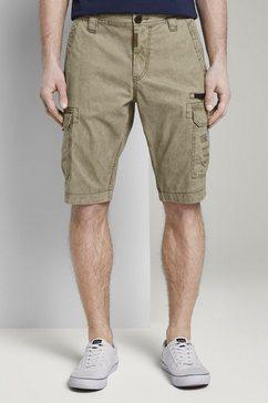 tom tailor bermuda »cargo bermuda-shorts im washed-look« beige