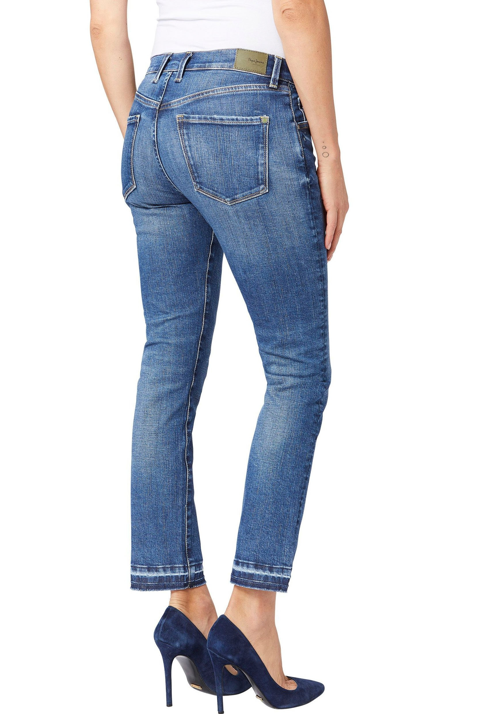 Pepe Jeans slim fit jeans VICTORIA in mom-carrot-fit met stretch-aandeel online kopen op otto.nl
