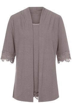 lady shirt in populaire 2-in-1 look bruin
