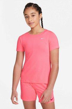 nike functioneel shirt »nike pro (2) big kids' (girls') short-sleeve top« roze