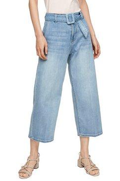 s.oliver 3-4 jeans (2-delig, met riem) blauw