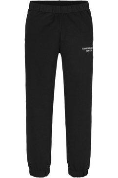 calvin klein sweatbroek mini monogram sweatpants zwart