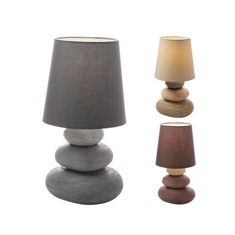 Tafellamp met 1 fitting en textielen kap