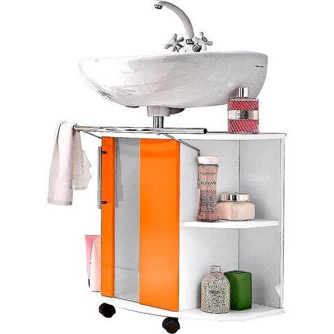 KESPER Wastafelonderkast Visby op rollers oranje badkamer onderkast 159