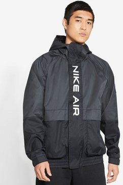 nike windbreaker »nike air men's woven hooded jacket« zwart