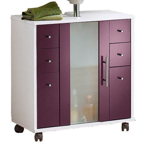 SCHILDMEYER kast Catania met 3 deuren paarse badkamer wastafelonderkast 48