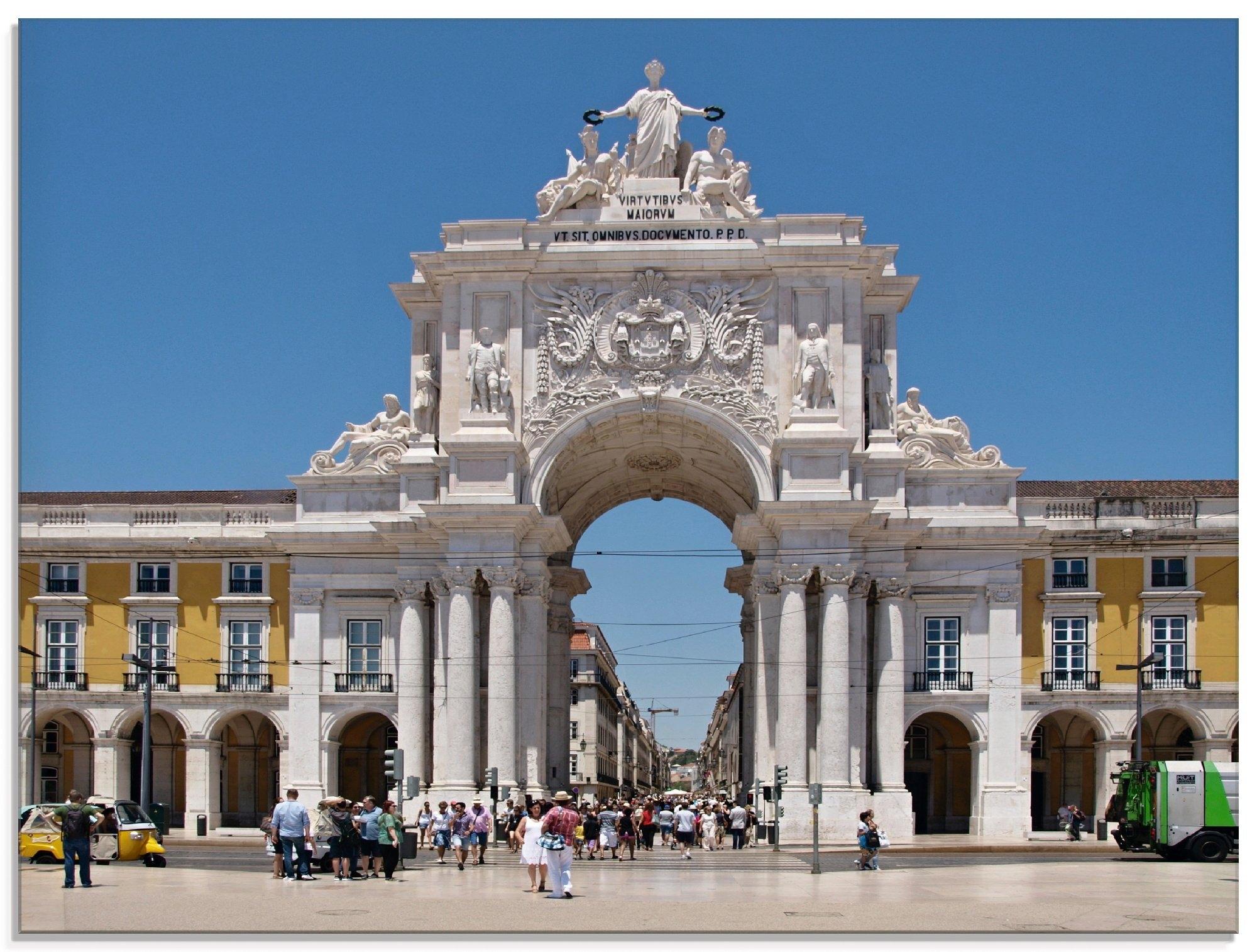 Artland print op glas Arco rua Augusta Lissabon (1 stuk) in de webshop van OTTO kopen
