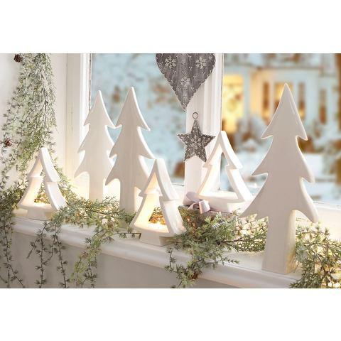 Porseleinserie met romantische kerstflair