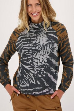 monari trui met staande kraag grijs