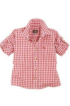 geruit folklore-overhemd voor kinderen, os-trachten rood