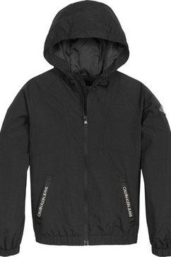 calvin klein blouson »monogram badge jacket« zwart