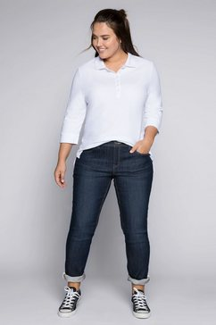 sheego stretch jeans kira in smalle pasvorm blauw
