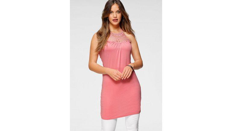 Melrose jurk in haltermodel Boho met kant