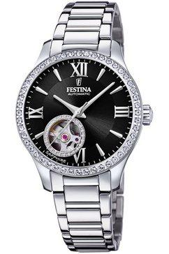 festina automatisch horloge automatik, f20485-2 zilver