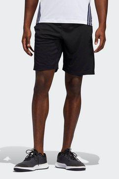 adidas performance functionele short 3-strepen 9-inch zwart