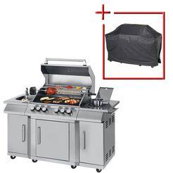 konifera gasbarbecue »burnaby« bxdxh: 151x62,5x118 cm, met draaispit  motor zilver