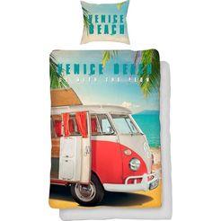 volkswagen tweezijdig te gebruiken overtrekset venice beach met de auto (2-delig) multicolor
